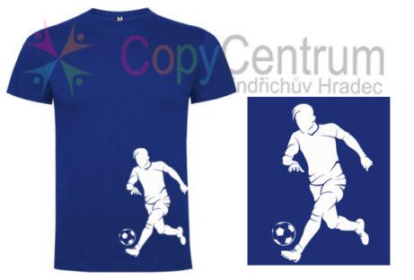 pánské modré tričko s fotbalistou