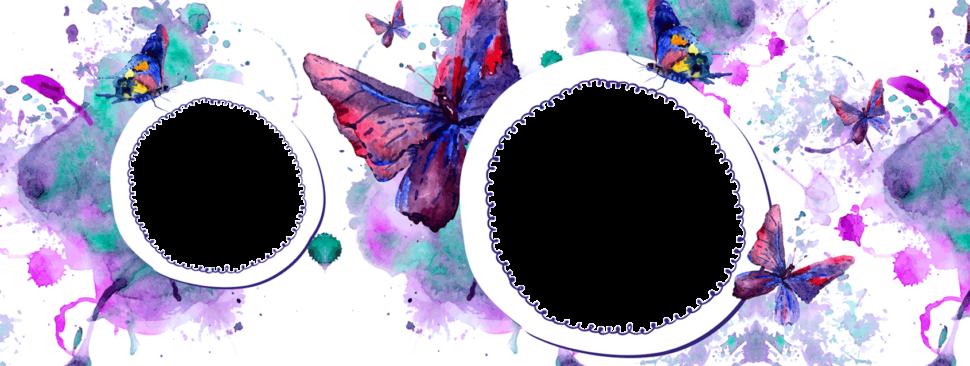 motýlková šablona nahrneček