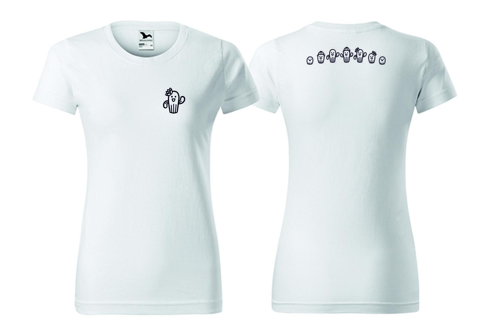 Dámské tričko bílé smotivem
