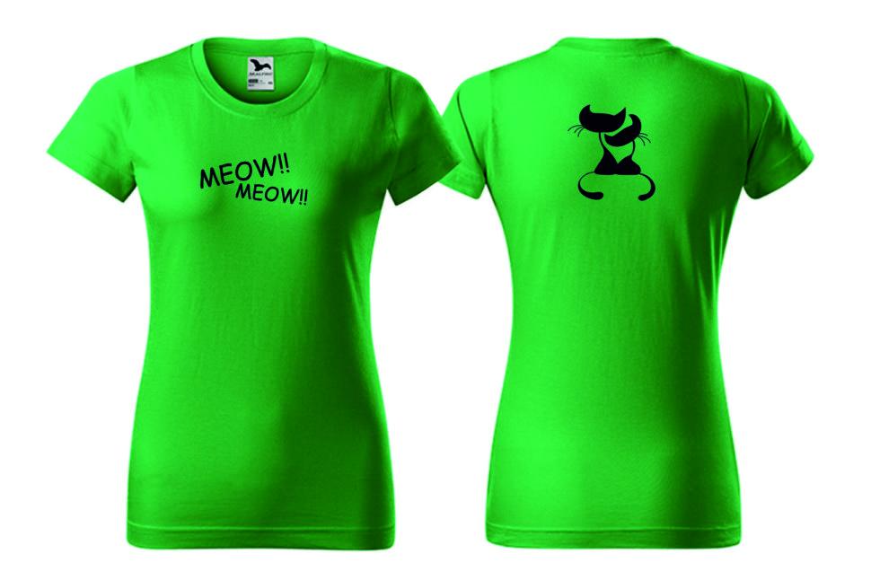 Dámské zelené tričko smotivem