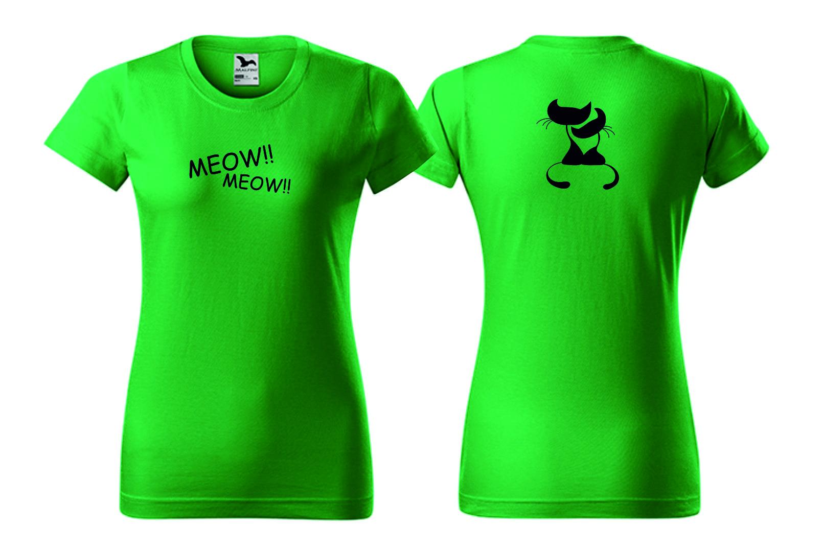 Dámské zelené tričko s motivem