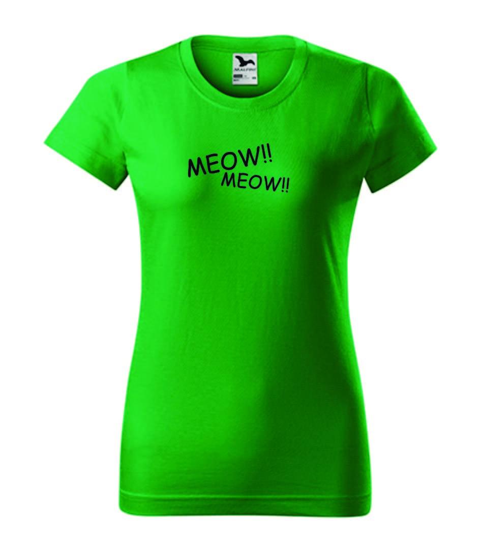 Dámské tričko zelené kočičí
