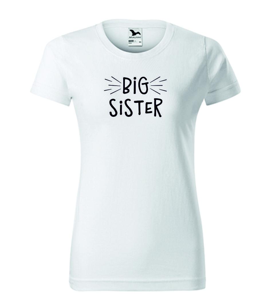 Dámské tričko bílé pro velké sestry