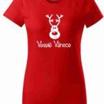Dětské červené vánoční tričko