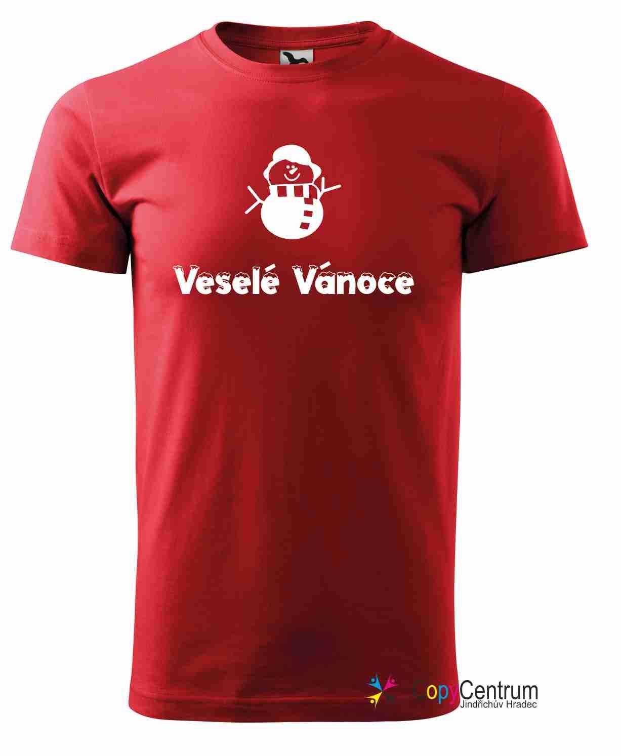 Pánské tričko červené vánoční