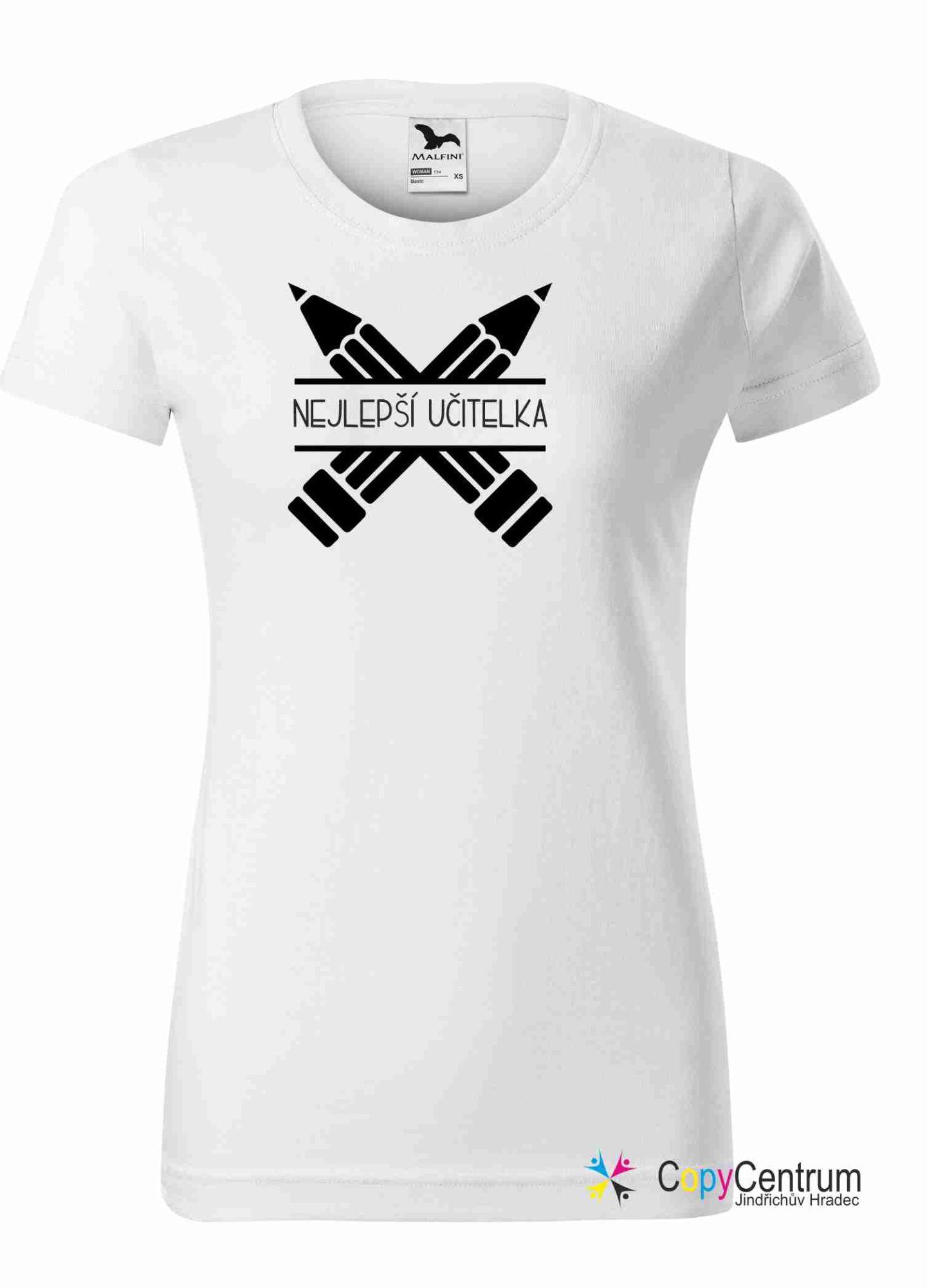 Učitelské tričko bílé dámské NEJLEPŠÍ UČITELKA