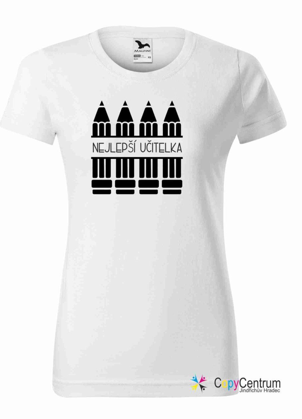 Učitelské tričko bílé NEJLEPŠÍ UČITELKA