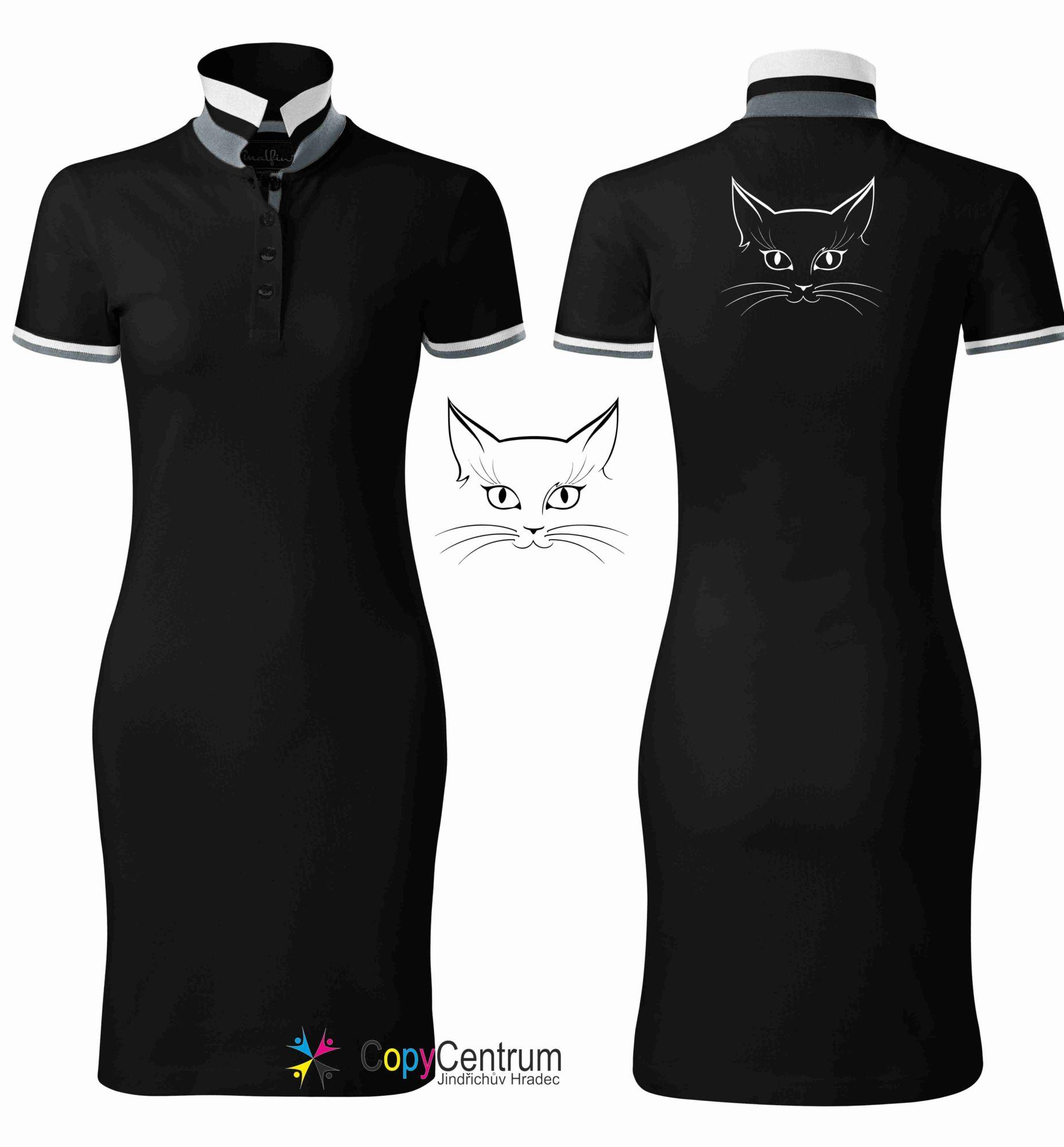 Dámské šaty černé KOČIČÍ KUKUČ