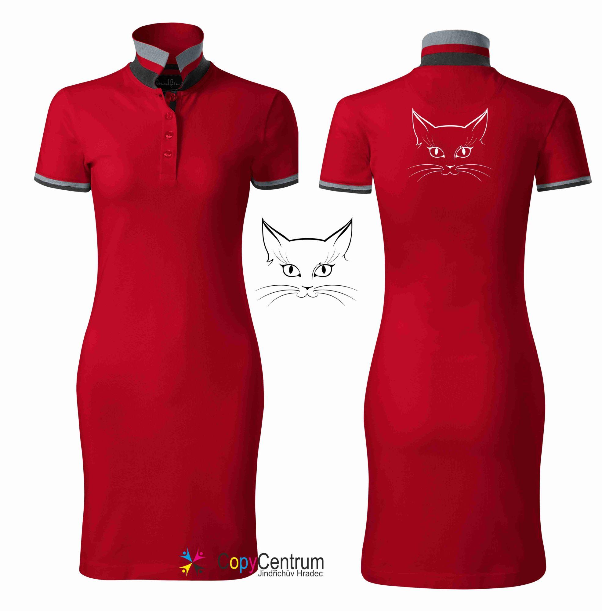 Dámské šaty červené KOČIČÍ KUKUČ