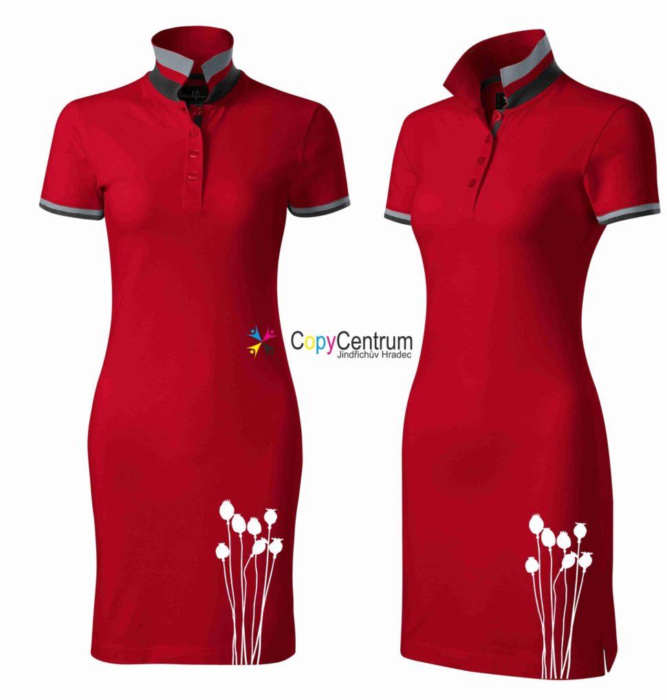 LUxusní dámské šaty červené MAKOVICE