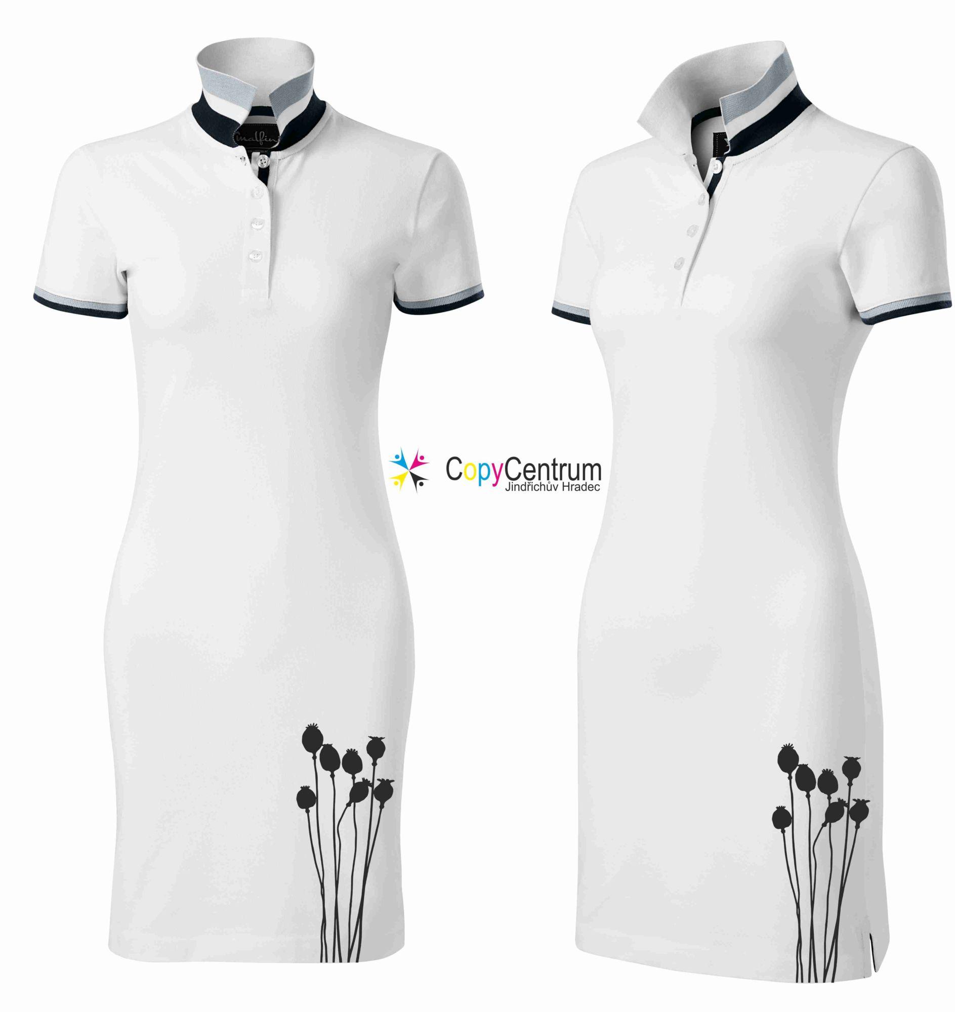Luxusní dámské šaty bílé MAKOVICE