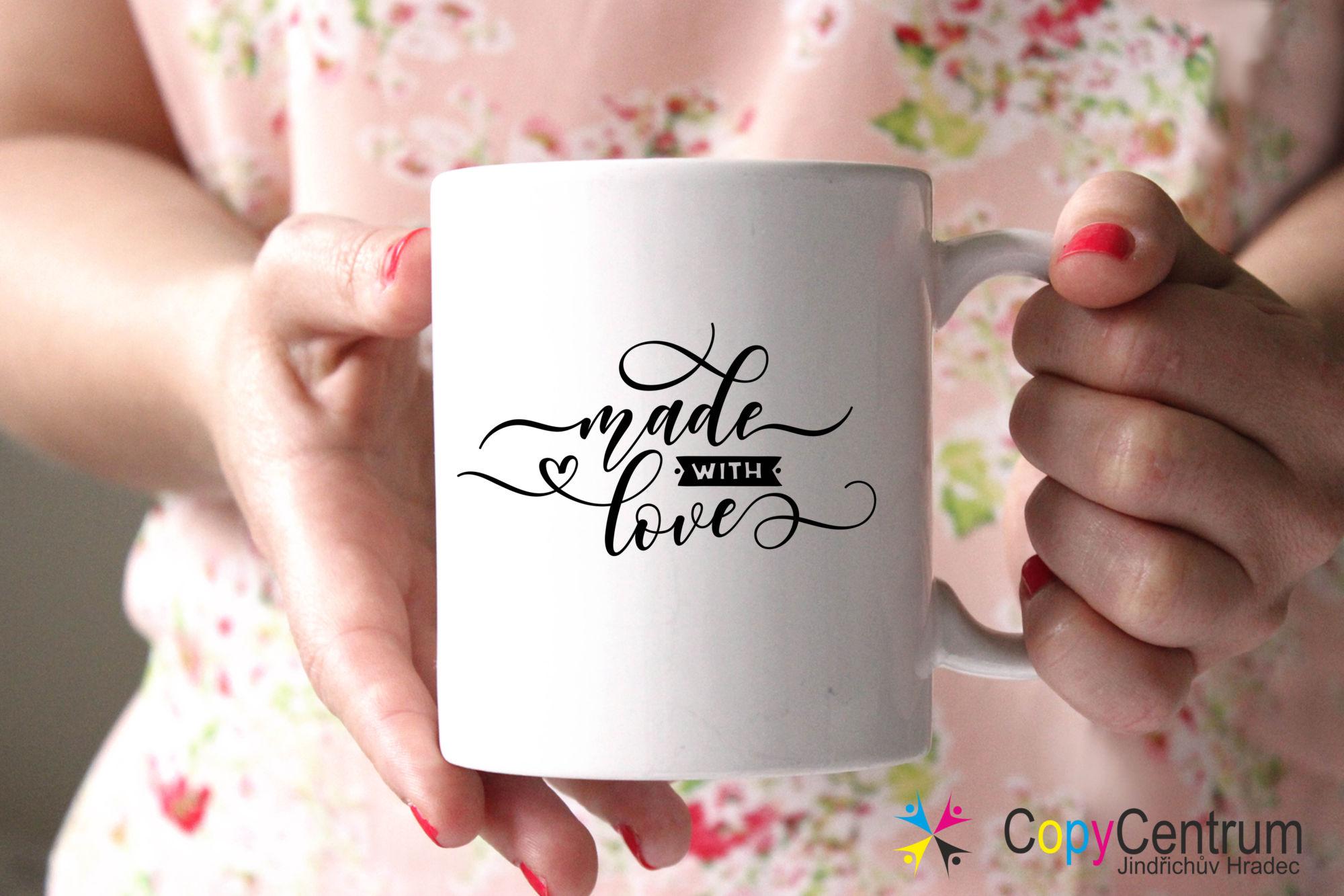 Hrneček na kávu - vyrobeno s láskou