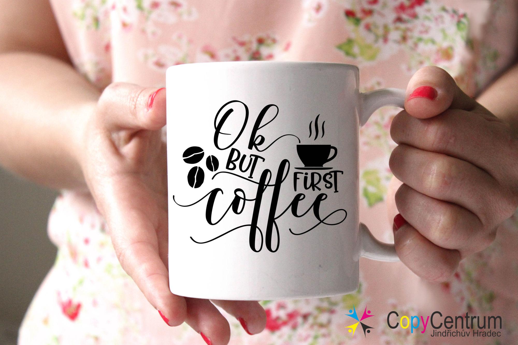 Hrneček na kávu s potiskem