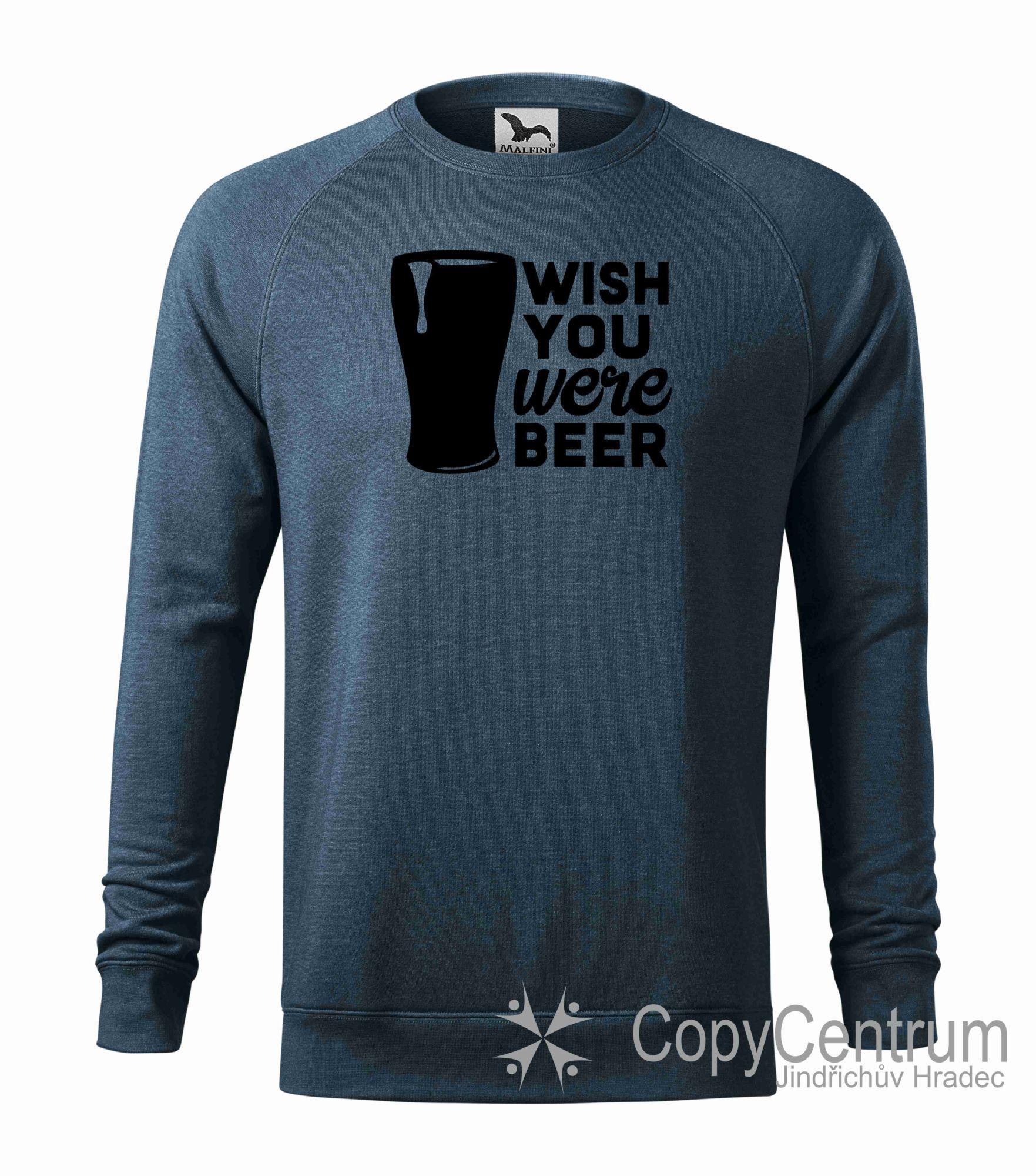 Pánská mikina modrá beer